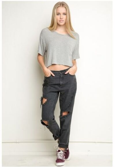 jeans denim ripped distressed jeans mom jeans dark grey so pretty popular brandy melville indie