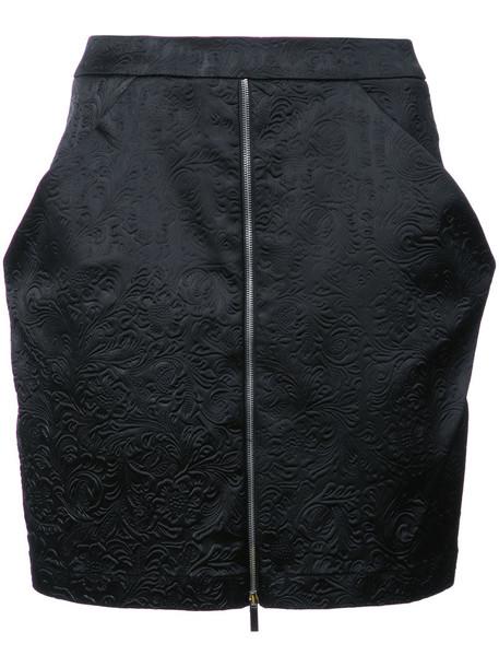 Thomas Wylde skirt mini skirt mini women spandex black silk