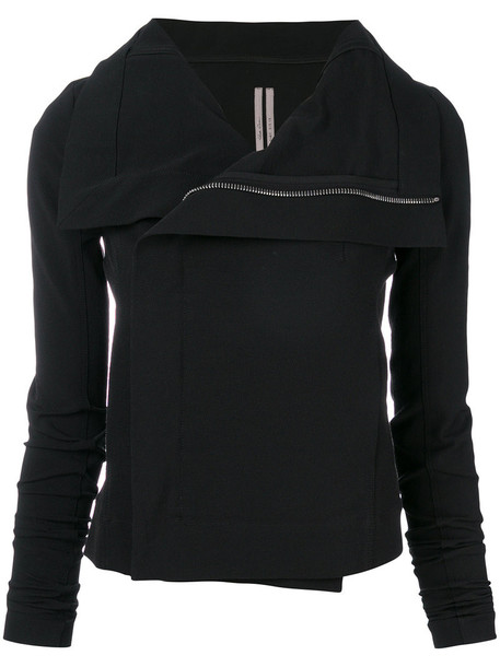 Rick Owens jacket women spandex cotton black silk