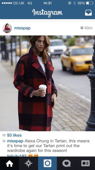 alexa chung red coat black coat duffle coat winter coat