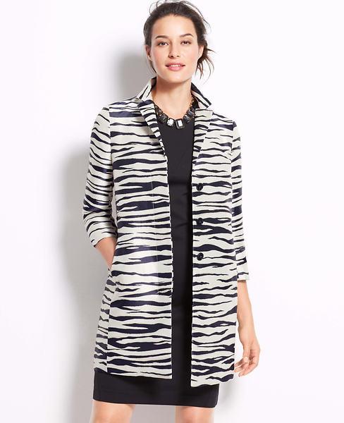 5a144f29efc8 Petite Zebra Jacquard Topper | Ann Taylor