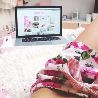 pink floral shorts rosy indie sweet