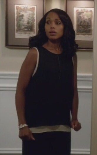 top black and white olivia pope scandal layered kerry washington