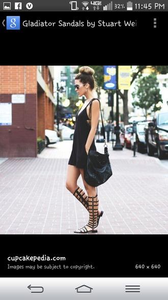 shoes black shoes knee high gladiator sandals black gladiators