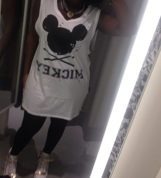 white t-shirt dress mickey mouse print dress white dress oversized shirt oversized dress mickey mouse mickey mouse shirt