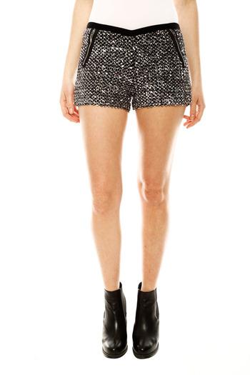 Shoptiques — silver sequin shorts