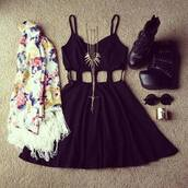 dress,scarve,scarf.black,classy,shoes,sunglasses,bracelets,jacket,jewels,scarf,skater dress,cardigan,jewelry,glasses,black,black dress,blouse,floral jacket,vintage,cut dress,cut-out dress,little black dress,clothes,short dress,cute,beautiful,gold,floral,weheartit,cut-out,skater,sweater,coat,cute dress,necklace,round sunglasses,plataform,waist,cut out waist,cut out black dress,heels,black shoes,black heels,tank dress,tank top,sleeveless,floral cardigan,waterfall cardigan,hipster,indie,party,party dress,mini dress,black mini dress,black skater dress,skater skirt,circle skater dress,gold jewelry,a accessories,accessories,spike necklace,jeffrey campbell,black caged dress,sexy dress,edgy,cute high heels,boots,black boots,summer dress,black cutout dress,floral kimono,kimono,white floral,white kimono,white floral kimono,cute kimono,kute kimono,spaghetti strap,robe noire,jewerly,flowers,high heels,maroon cardigan,maroon skater skirt,white crop tops,white high top converse,casual,graduation dresses,short,wedges,midcut,cutout tops,dress with side cutouts