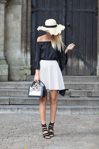 from brussels with love blogger shirt skirt shoes hat