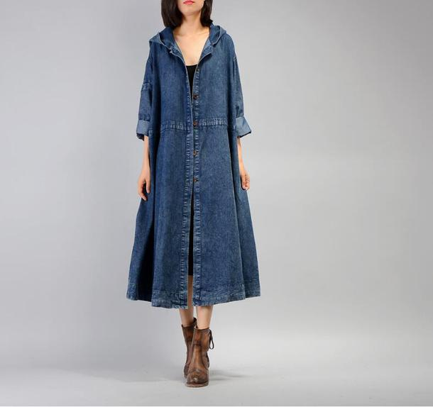 coat blue denim blue denim acid wash dress