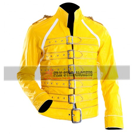 Replica Freddie Mercury Yellow Concert Jacket at Wembley For Sale