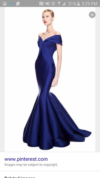 dress zac posen long evening dress formal dress wedding dress blue dress navy blue evening gown long blue