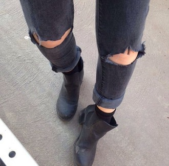 jeans ripped jeans ripped black jeans grunge