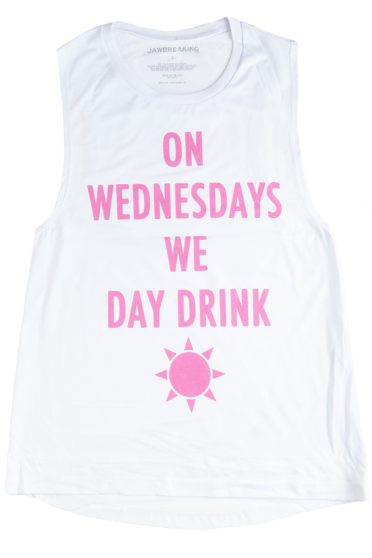Day drink muscle tank – jawbreaking