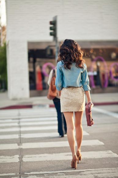 skirt mini skirt sequin skirt