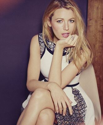 dress blake lively embellished dress embellished