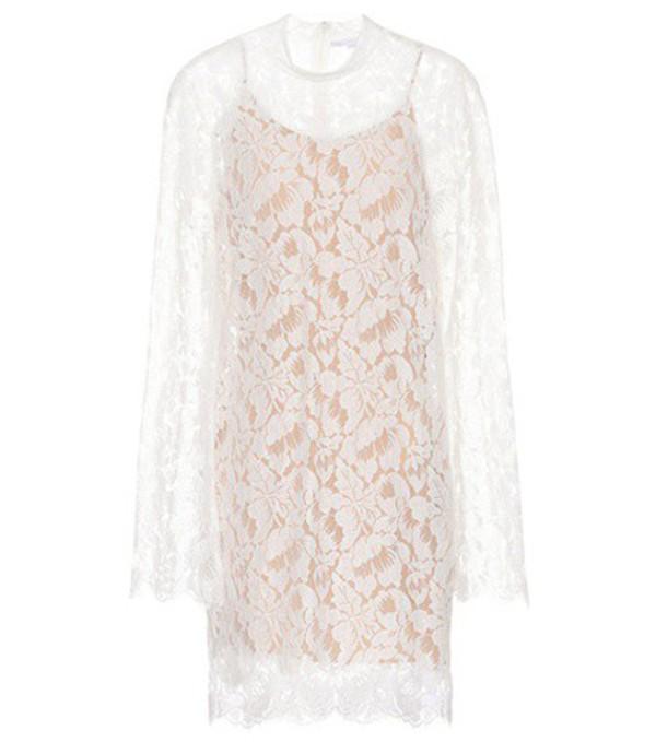 Stella McCartney Cayla lace cotton-blend dress in white