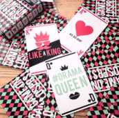 nail accessories,h&m,cards,games,king,queen,ace,ace of hearts,red,black,green