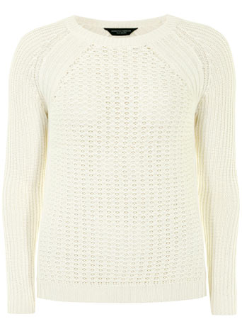 Ivory rib sleeve raglan jumper - Casual Wear  - Clothing  - Dorothy Perkins