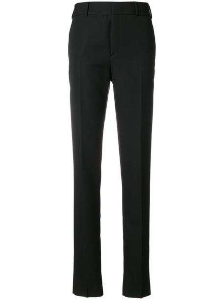 Saint Laurent women cotton black wool pants