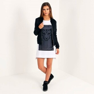 dress maniere de voir print bomber jacket