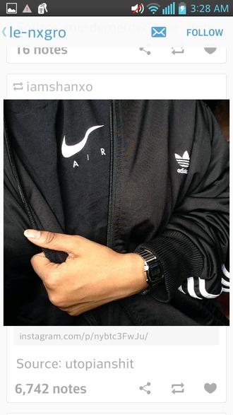 jacket adidas adidas jacket nike t shirt black t-shirt black jacket menswear shirt