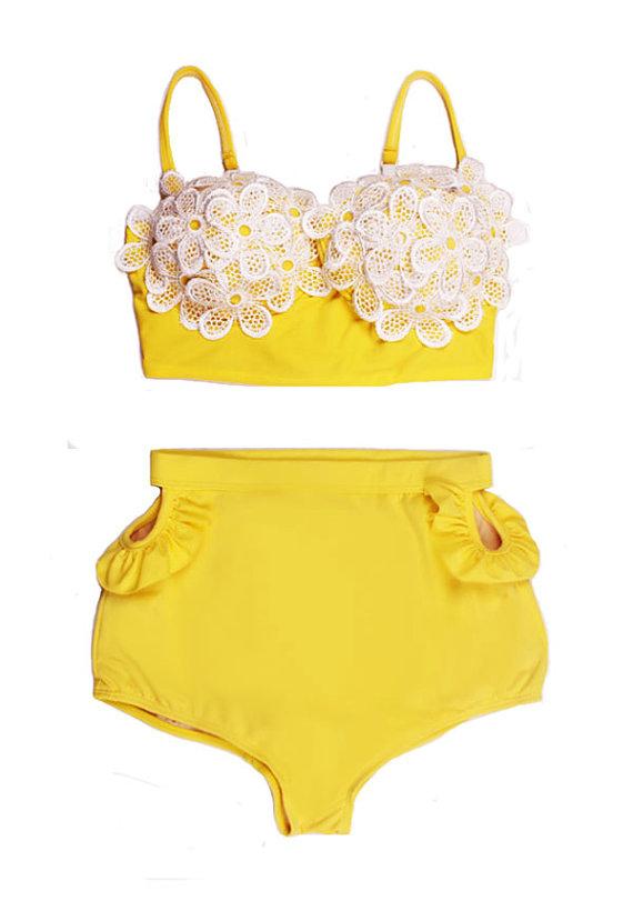 Waisted swimsuit swimwear bikini two piece bathing suit suits beachwear s m l