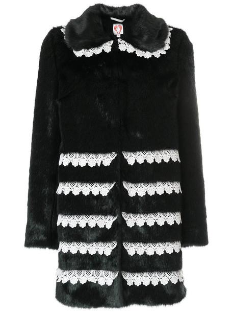 coat faux fur coat fur coat fur faux fur women black
