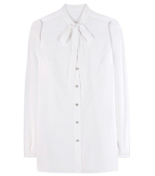 Dolce & Gabbana shirt embellished silk white top