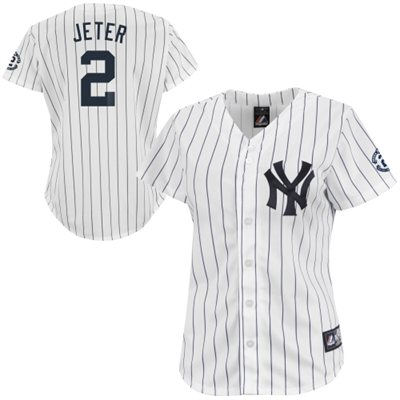 Derek Jeter New York Yankees Majestic Women's Replica Retirement Jersey - White