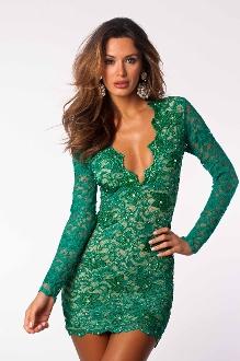 Eli emerald lace dress holt