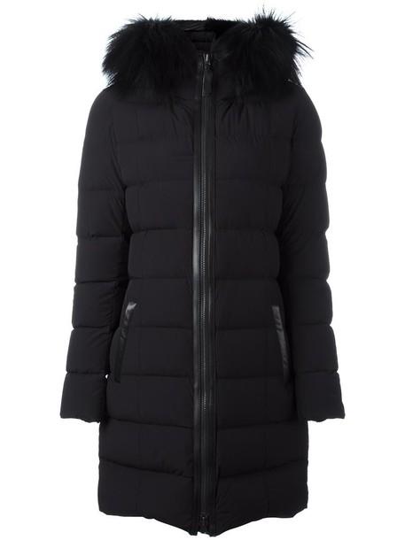 mackage coat fur fox women spandex black