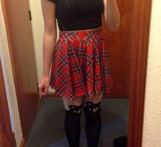 skirt plaid skirt tartan skirt red plaid skirt red skirt