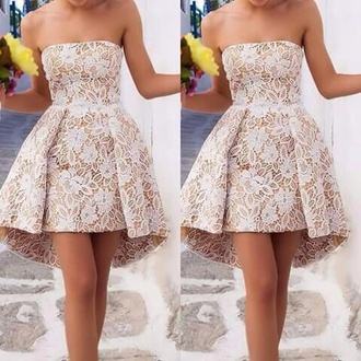 dress white fancy lace beautiful fashion girl clothes women prom prom dress chic lace dress white dress long prom dress