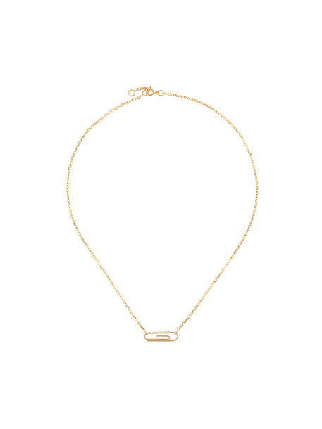 AURELIE BIDERMANN women necklace diamond necklace gold grey metallic jewels