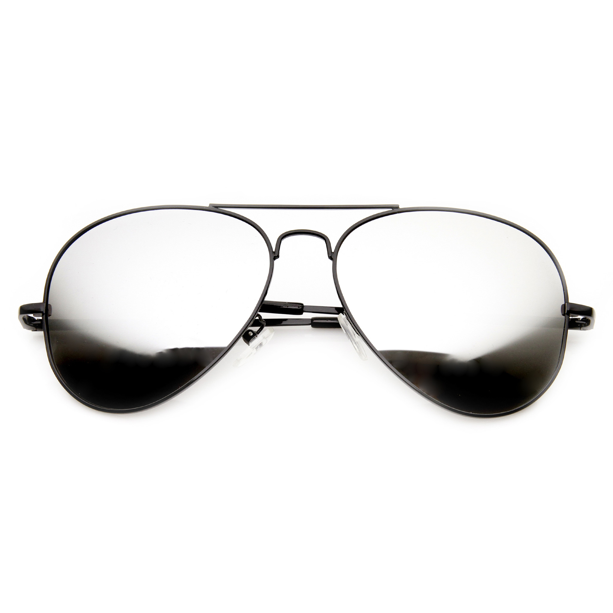 Premium Military Classic Mirrored Lens Metal Aviator Sunglasses 1375
