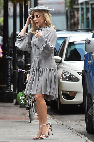 shoes sandals dress lady gaga grey grey dress