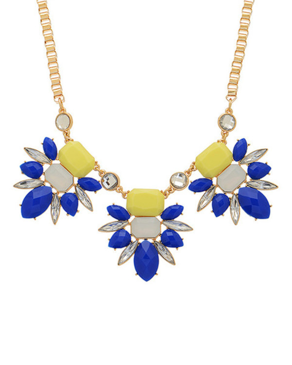 jewels yellow statement necklace