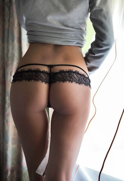 underwear lace black