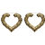 Gold Heart Hoop Earrings (AS SEEN IN SHOUT) - ✰ ☮ ✝ Dollface London Online Jewellery Boutique ✝ ☮ ✰
