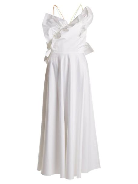 ANNA OCTOBER dress ruffle cotton white
