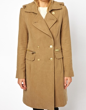 Mango | Mango Military Zip Detail Coat at ASOS