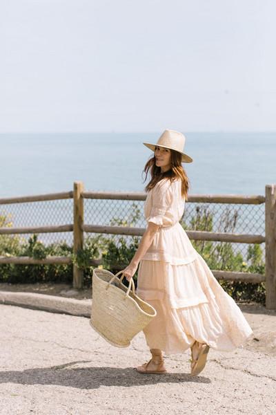 could i have that blogger dress shoes hat basket bag sandals maxi dress