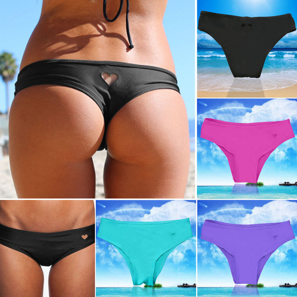 5227bd57d0c Sexy Women Brazilian Bikini Swimwear Bathing Beach Thong Ruched Scrunch  Bottom