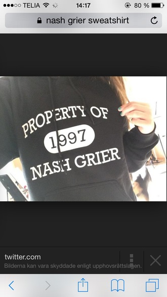 sweater nash grier black and white