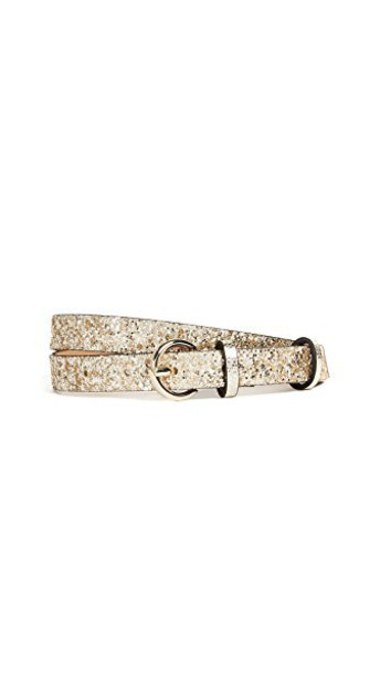 glitter sparkle belt gold