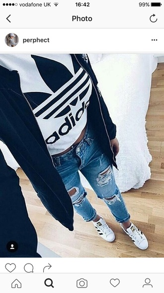 top black and white adidas white adidas shirt