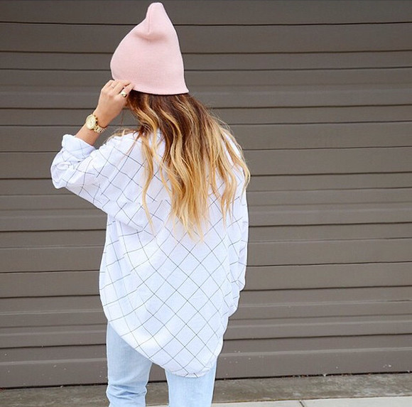 oversized t-shirt oversized blouse white shirt white blouse patterned shirt