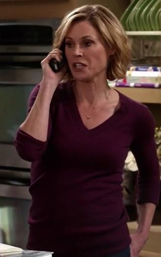 sweater claire dunphy julie bowen modern family purple v neck