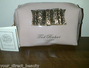 Ted Baker Wash Bag Make Up Cosmetics Twinkel Shell With Gold Glitter Bow BNWT | eBay
