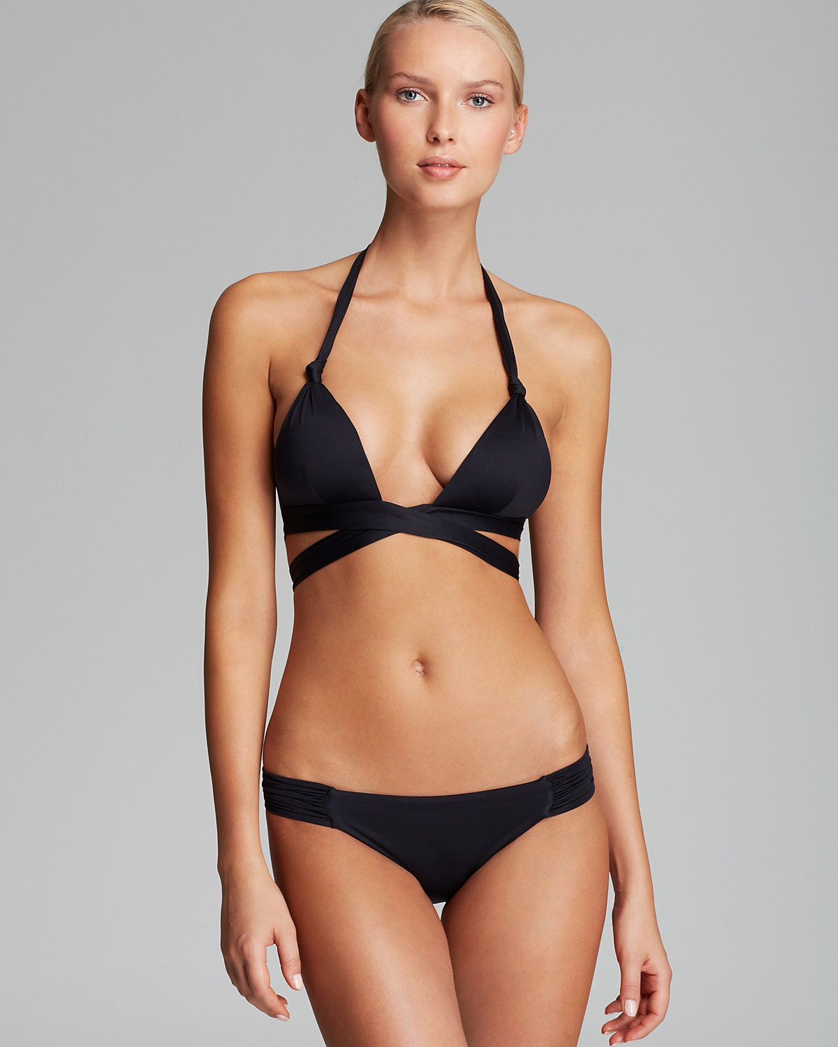 Vitamin a sirena wrap bikini top & antibes ruched hipster bottom